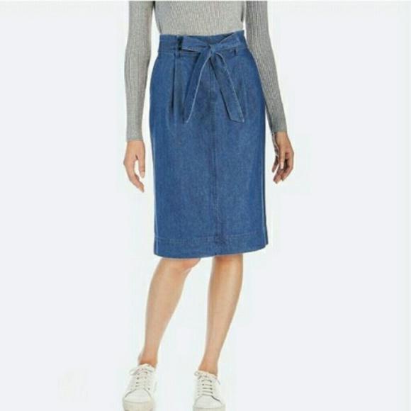 a1c3f0efbc Uniqlo Skirts | Denim Belted Skirt | Poshmark